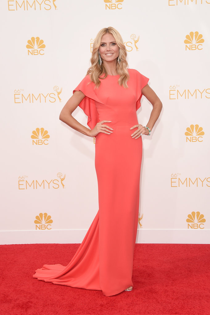 Heidi Klum in Zac Posen at 2014 Primetime Emmy Awards