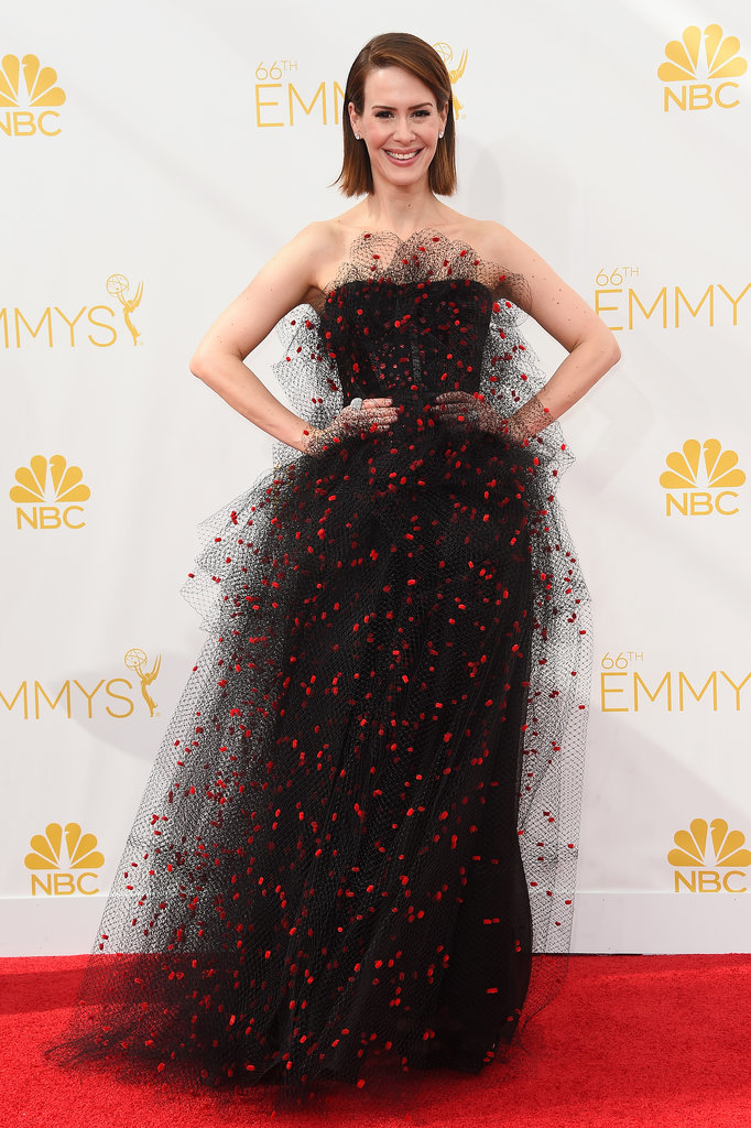 Sarah Paulson in Armani Prive Couture at 2014 Primetime Emmy Awards