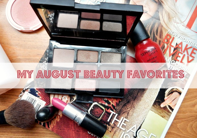 My August 2014 Beauty Favorites