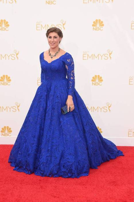 Mayim Bialik at the 2014 Primetime Emmy Awards