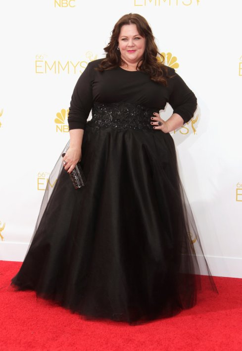 Melissa McCarthy in Marchesa at 2014 Primetime Emmy Awards