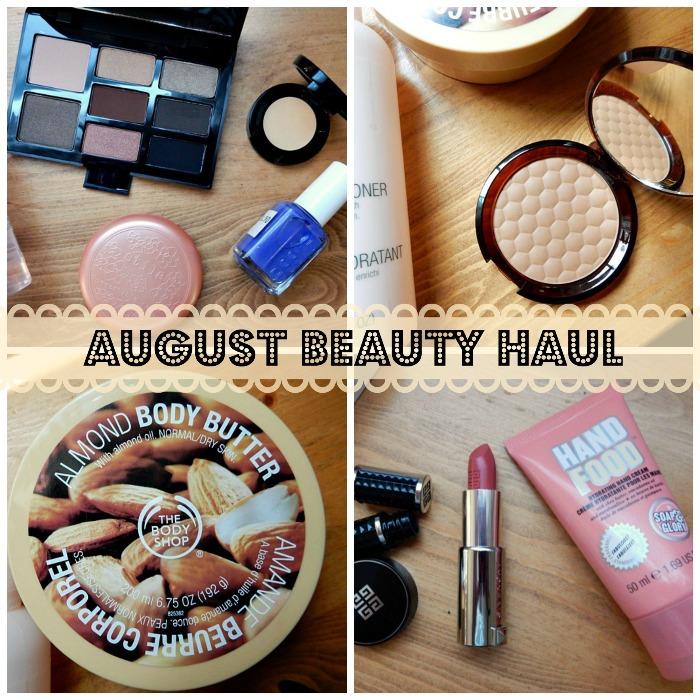 August Beauty Haul