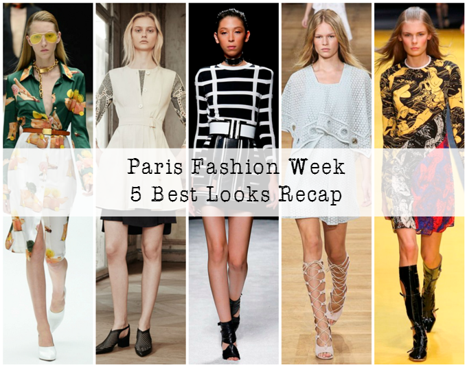 5 Best Spring 2015 Looks Recap of Paris Fashion Week