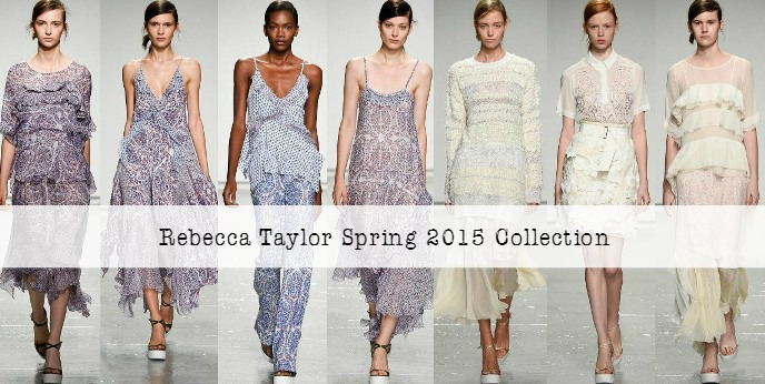 Rebecca Taylor Spring 2015 RTW Collection at New York Fashion Week