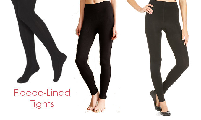 Fleece Lined Tights and Leggings for Winter