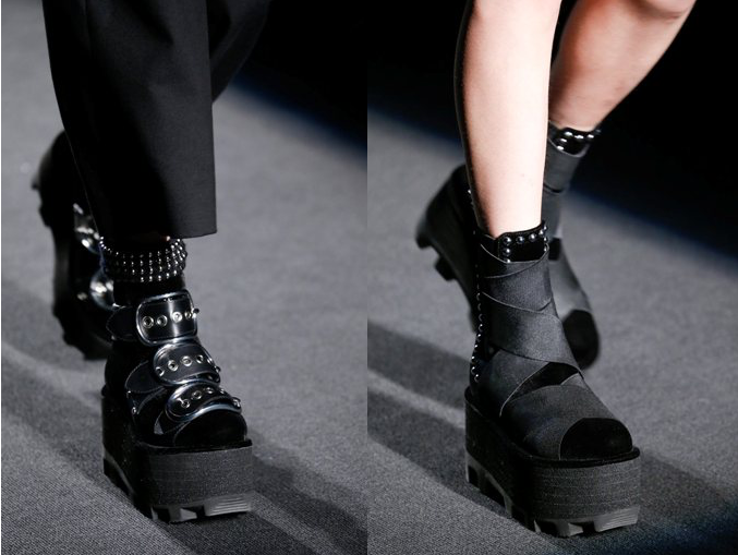 abaec5cb615 Platform Boots at Alexander Wang Fall 2015 - Dream in Lace