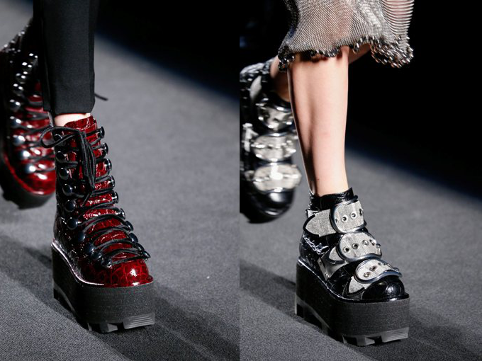 74d78297f8d NYFW  Alexander Wang Shows Platform Moon Boots - Dream in Lace