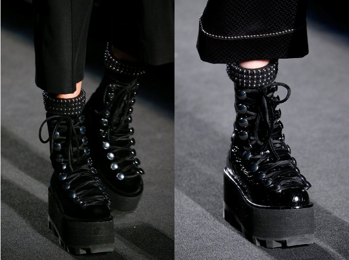 Platform boots at Alexander Wang Fall 2015 - NYFW