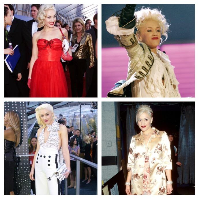 Gwen Stefani Style Evolution at the Grammys