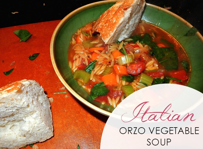 In the Kitchen: Italian Orzo Vegetable Soup