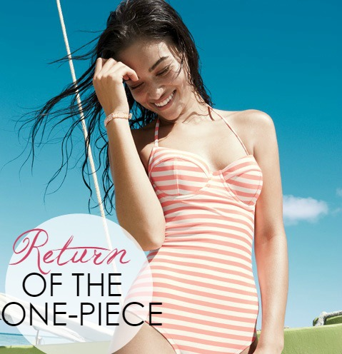 Fashion: Return of the One-Piece Swimsuit