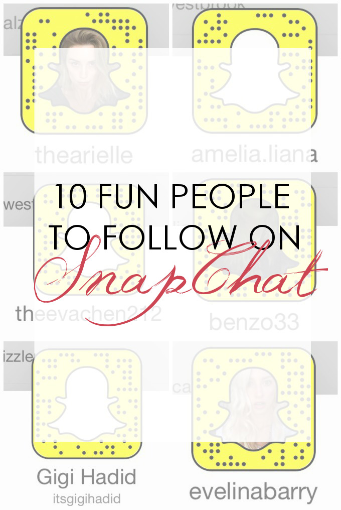 Most Loved Blog Posts of 2016: 10 Peeps to Follow on SnapChat
