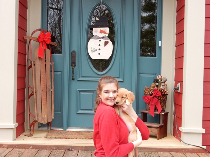Valentine's Day outfit and puppy love