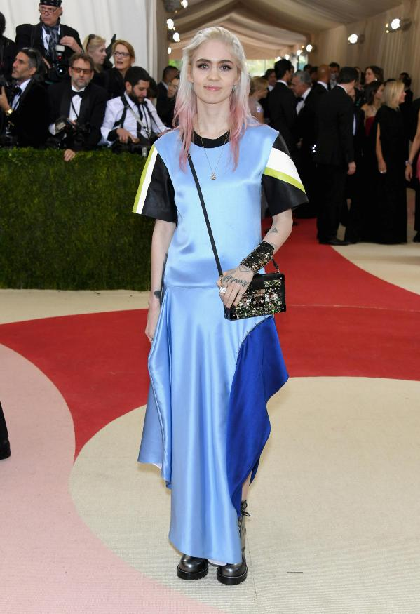 Grimes in Louis Vuitton at the 2016 Met Gala Red Carpet