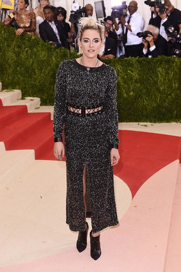 Kristen Stewart in Chanel on the 2016 Met Gala Red Carpet