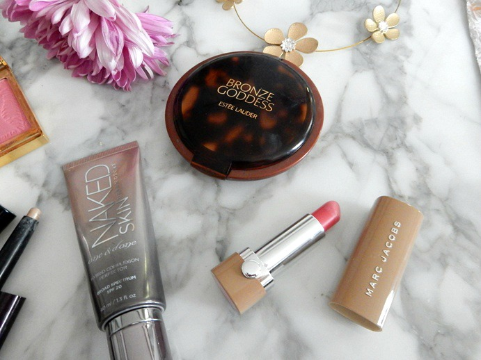 Makeup Favorites: Marc Jacobs lipstick, Estee Lauder 'Bronze Goddess' Bronzer - Dream in Lace