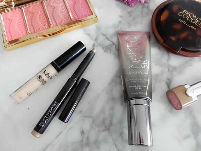 Spring Makeup Favorites: Urban Decay '1 and Done', Laura Mercier Eye Crayon, NYX HD Concealer - Dream in Lace