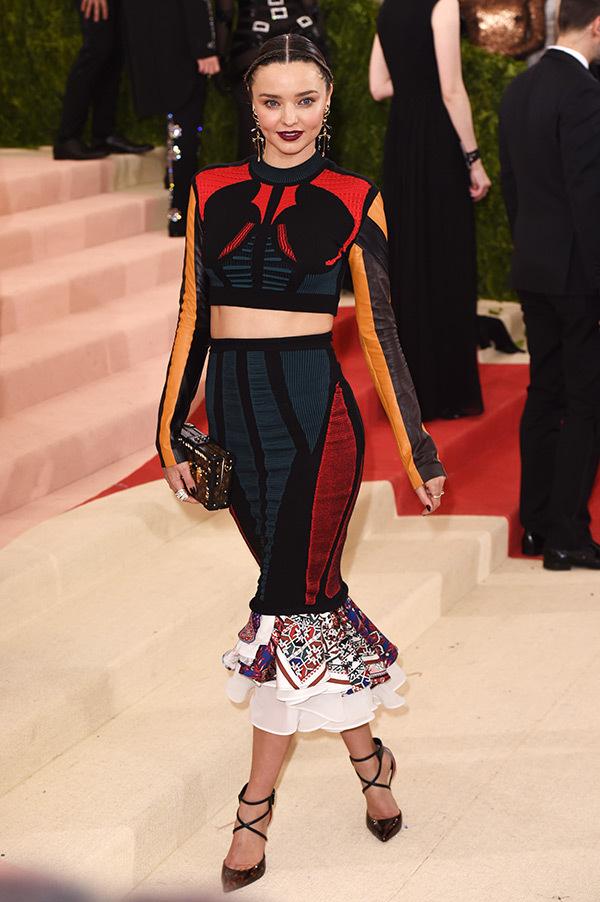 Miranda Kerr in Louis Vuitton on the 2016 Met Gala Red Carpet