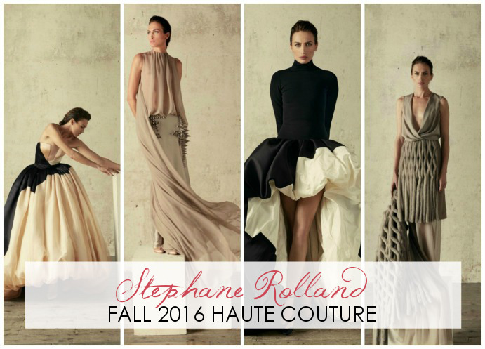 Stephane Rolland Fall 2016 Haute Couture - Dream in Lace