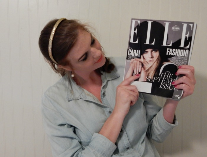 Cara Delevingne on Elle September Issue Cover - Dream in Lace