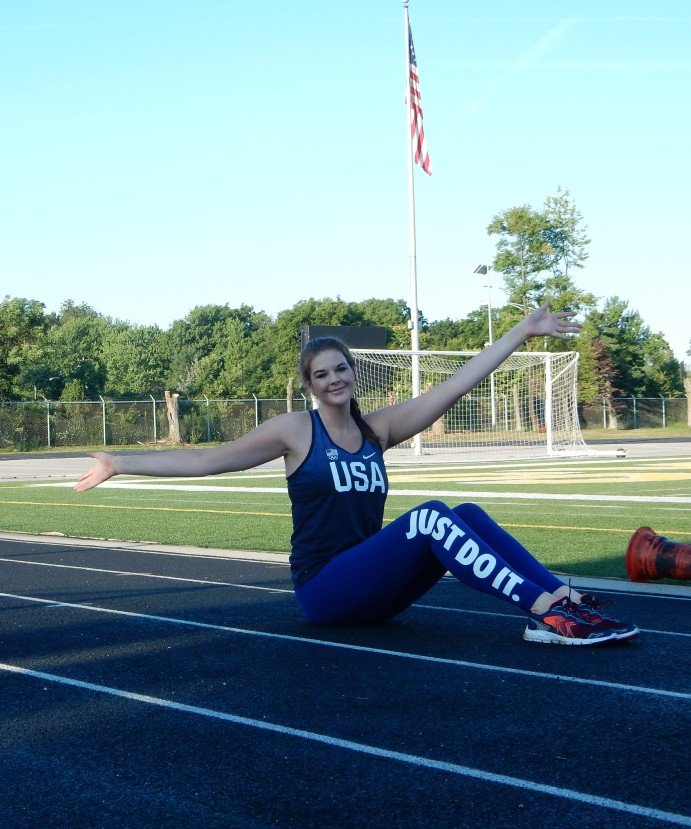 Olympic Style with Nike - Nike Team USA Tank and Just Do it Leggings