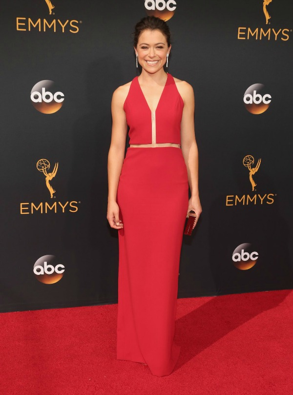 Tatiana Maslany in Alexander Wang on the 2016 Emmys Red Carpet - Dream in Lace
