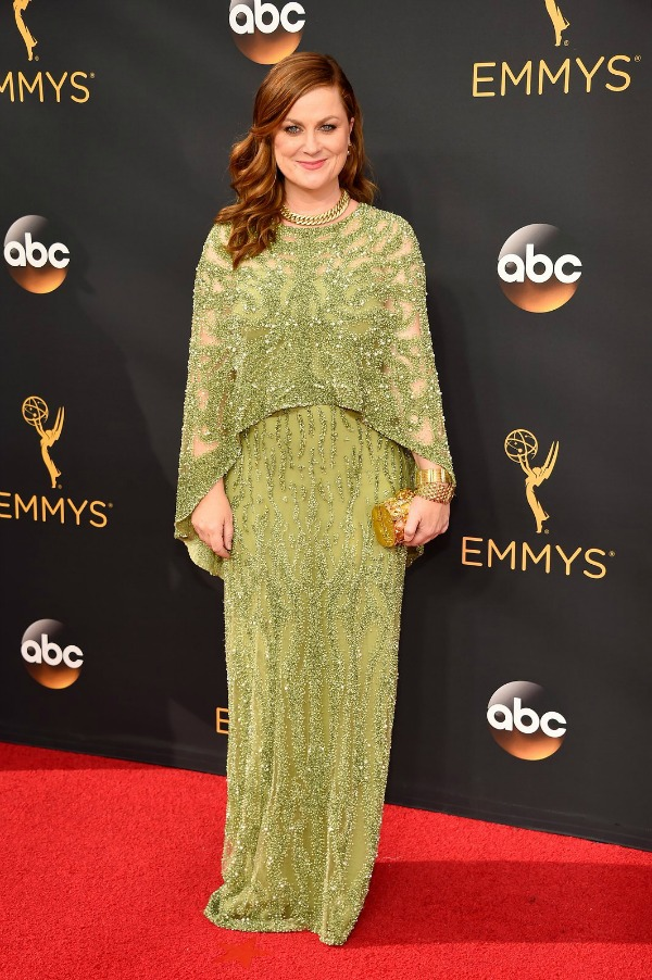 Amy Poehler in Pamella Roland on the 2016 Emmy Awards Red Carpet - Dream in Lace