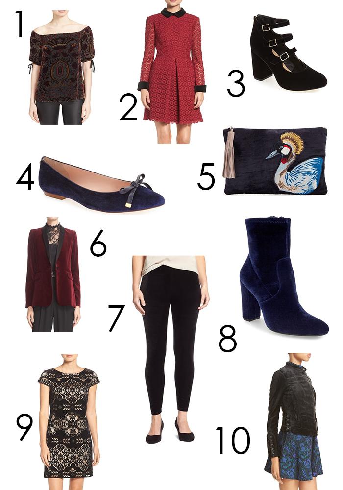 Fall Velvet Fashion - Dresses, Jackets, Shoes