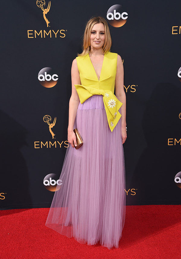 Laura Carmichael in Delpozo on the 2016 Emmy Awards Red Carpet - Dream in Lace