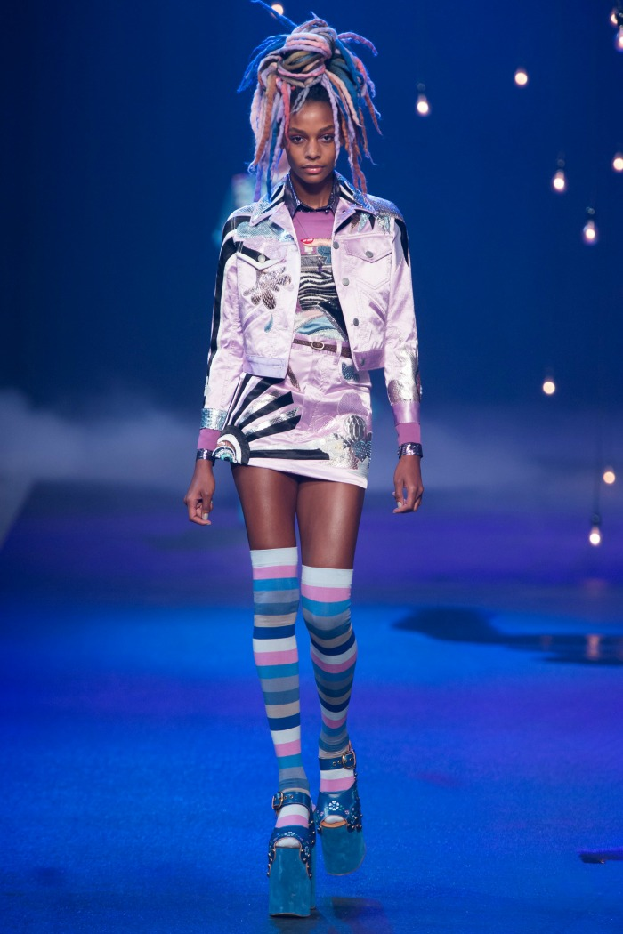 Marc Jacobs Thigh-High Socks Rainbow in SS17 Collection - Dream in Lace