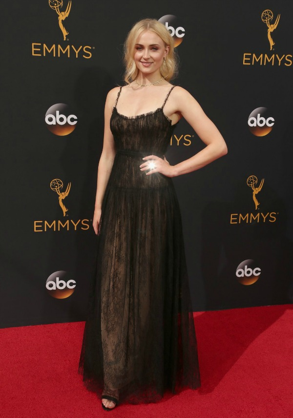 Sophie Turner in Valentino on the 2016 Emmy Awards Red Carpet - Dream in Lace