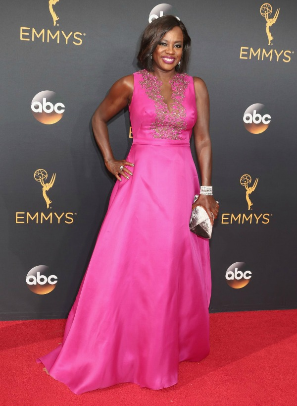 Viola Davis in Marchesa on the 2016 Emmys Red Carpet - Dream in Lace