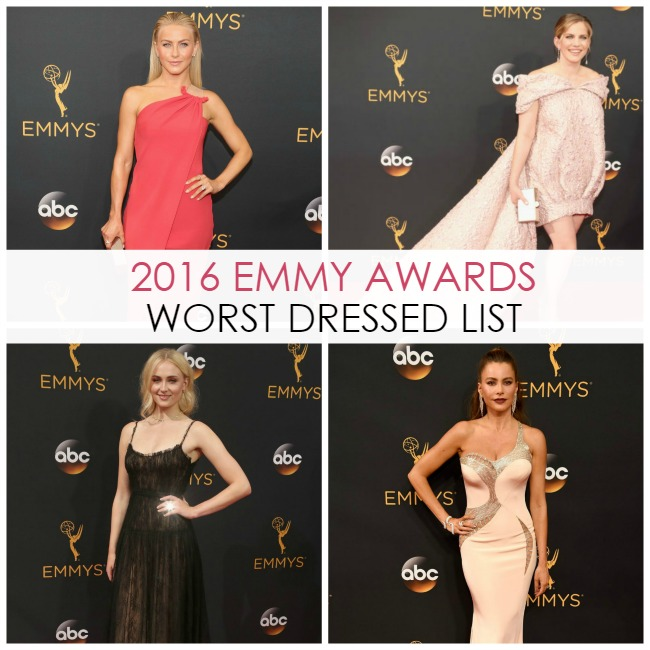 Worst Dressed at the 2016 Emmy Awards Red Carpet - Dream in Lace
