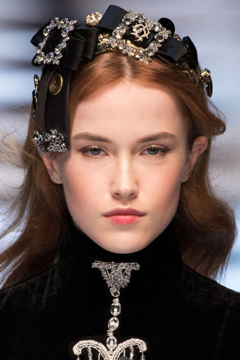 Fall 2016 Beauty Trends: Light, Full-Coverage Foundation at Dolce and Gabbana