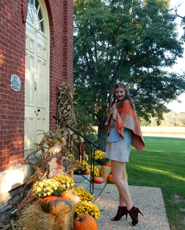 How to Style a Fall Wrap with Talbots - Dream in Lace
