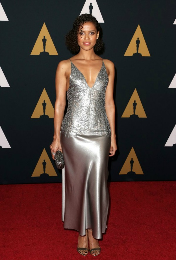Gugu Mbatha Raw in Narciso-Rodriguez on the 2016 Governors Awards Red Carpet