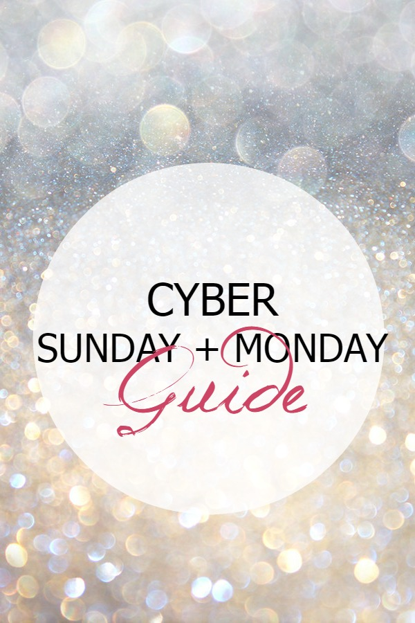 Cyber Sunday + Cyber Monday Sale Guide