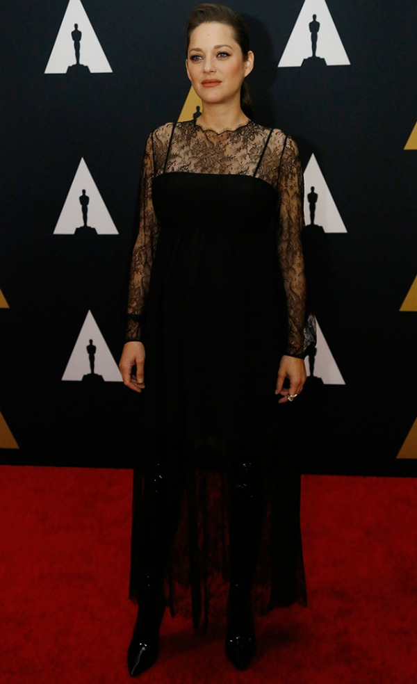 Marion Cottilard in Dior on the 2016 Governors Awards Red Carpet - Dream in Lace