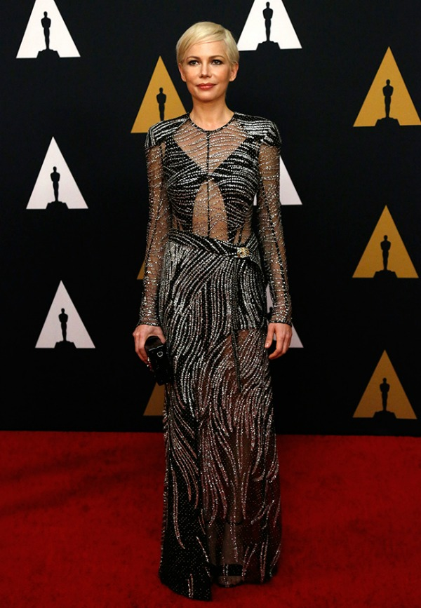 Michelle Williams in Louis Vuitton on the 2016 Governors Awards Red Carpet - Dream in Lace