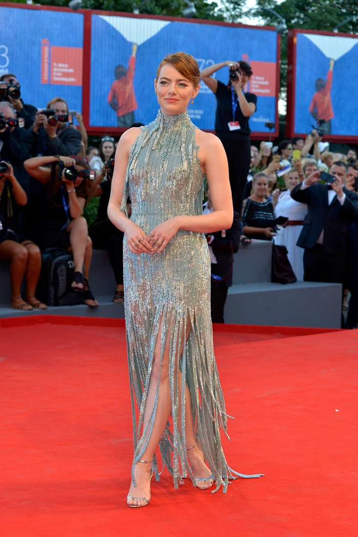 Best 2016 Red Carpet Fashion: Emma Stone in Versace