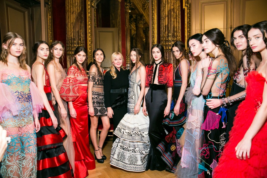 Backstage at Yanina Couture Spring 2017 Runway - Paris Couture Week