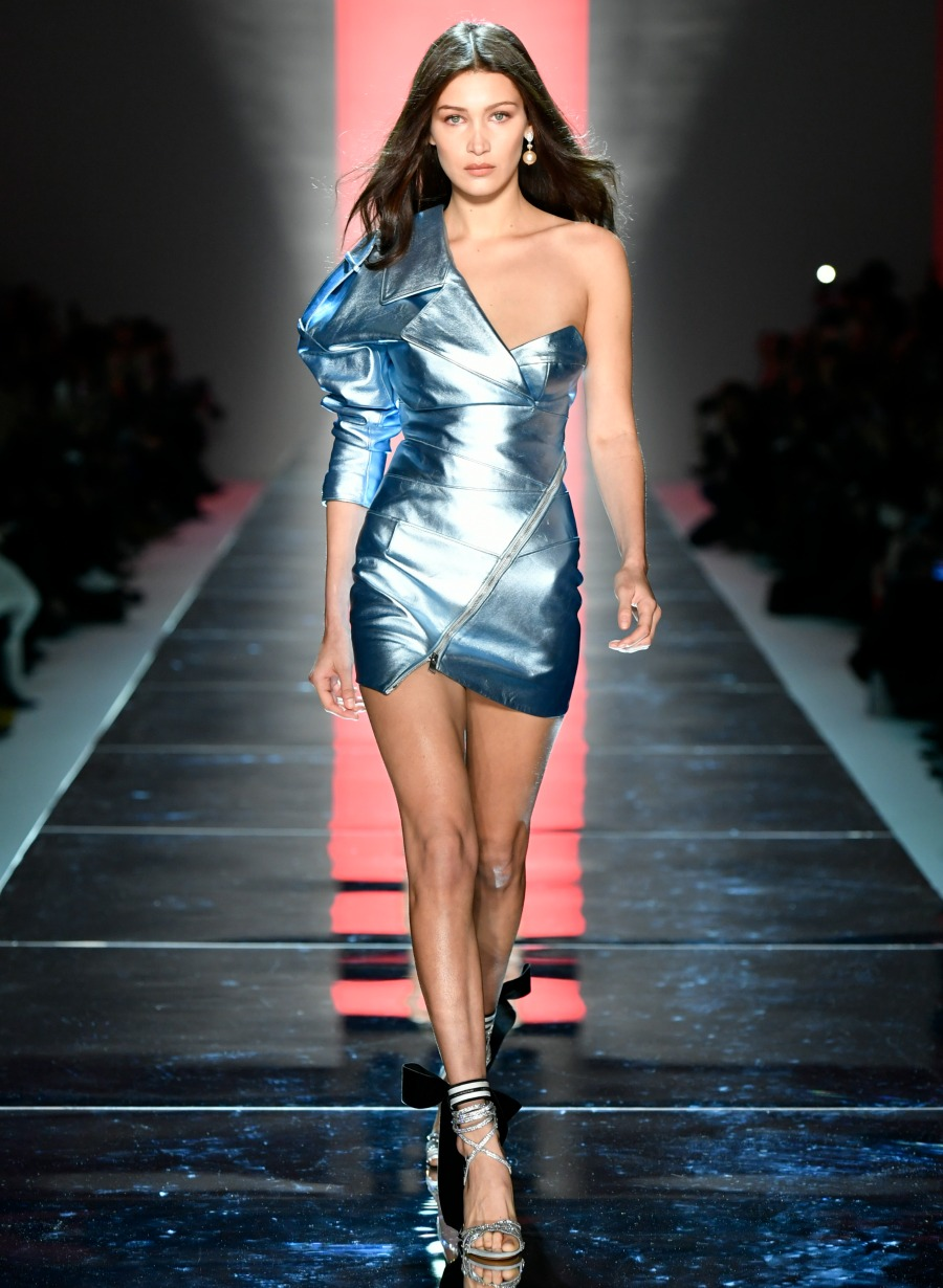 Bella Hadid walks Alexandre Vauthier couture runway