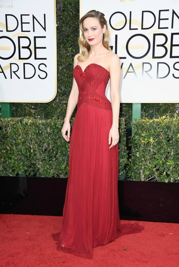 Brie Larson in Rodarte on the 2017 Golden Globes red carpet