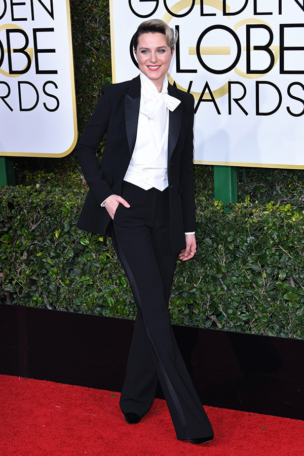 Evan Rachel Wood in Altuzarra on the 2017 Golden Globes Red Carpet