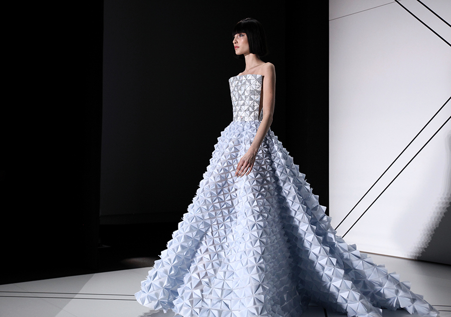 Ralph & Russo Couture -blue ball gown