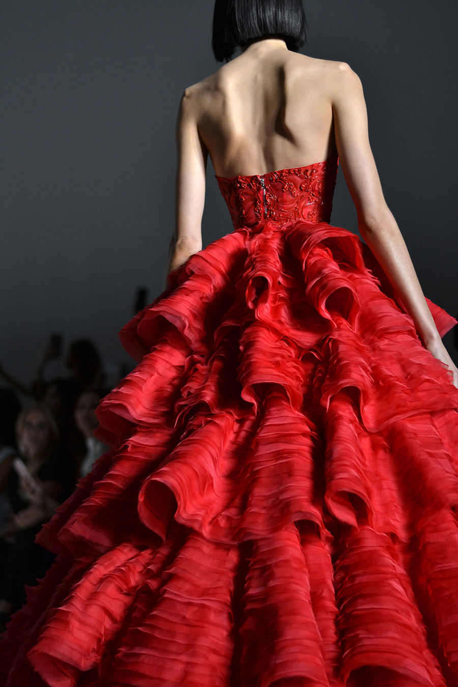 Ralph & Russo Couture - red ball gown