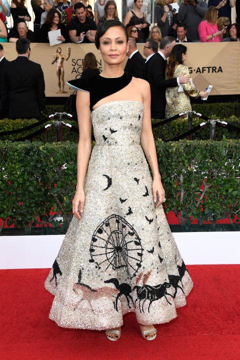 SAG Awards Red Carpet - Thandie Newton in Schiaparellie Couture