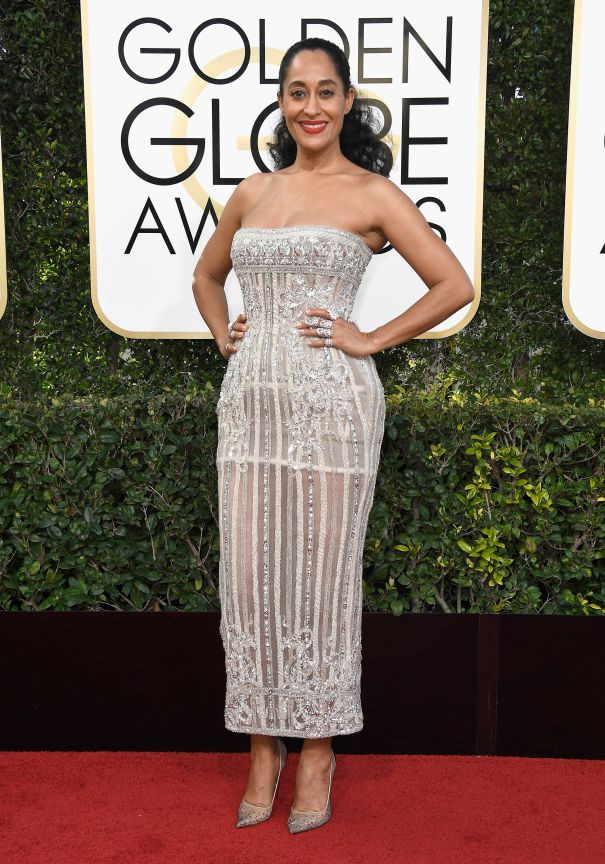Tracee Ellis Ross in Zuhair Murad at the 2017 Golden Globes Red Carpet