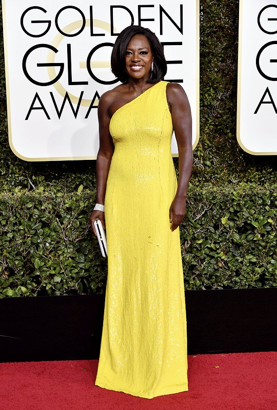 Viola Davis in Michael Kors on the 2017 Golden Globes Red Carpet