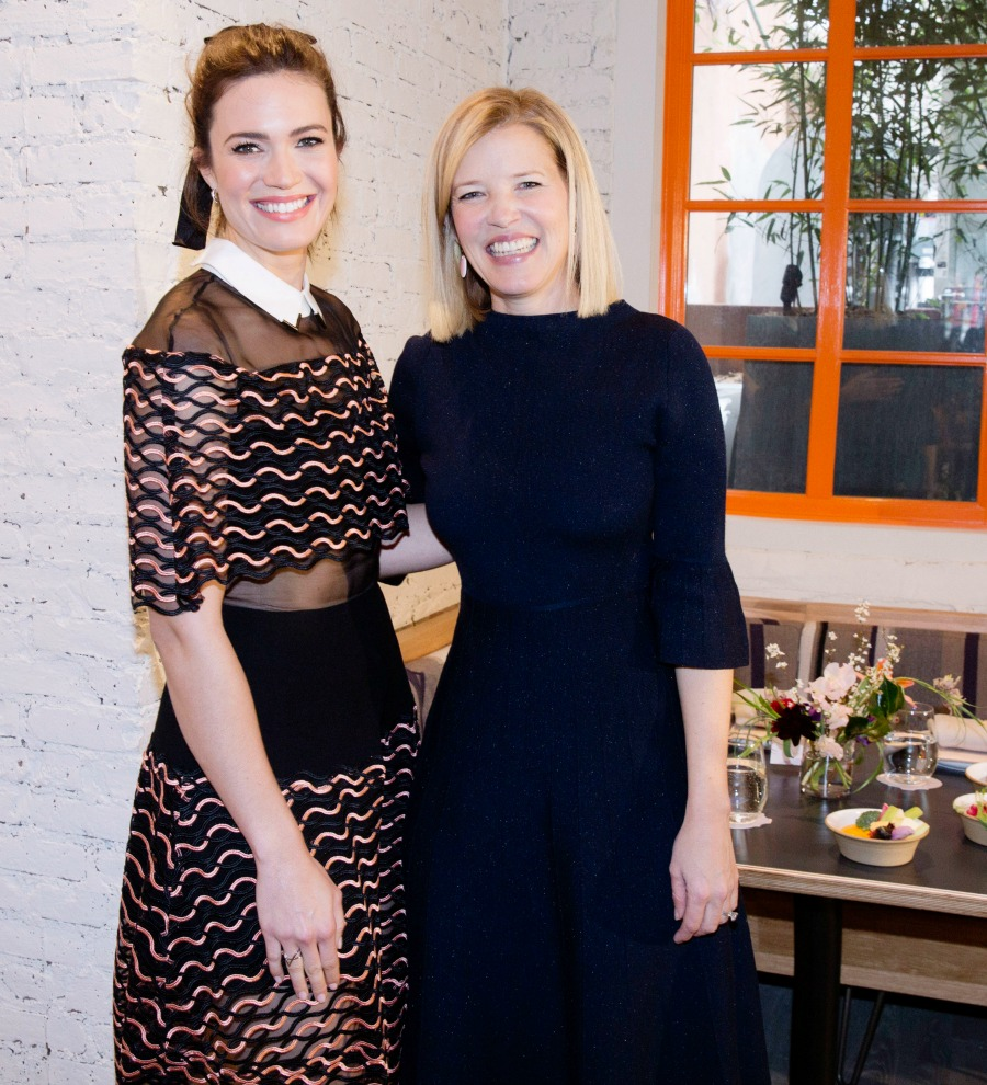 Mandy Moore with Lela Rose at Fall 2017 Runway Luncheon